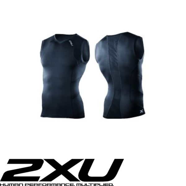 2XU ACCELERATE Compression Sleeveless Top schwarz