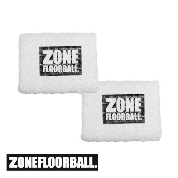 Zone Schweißband LOGO weiß (2er Pack)
