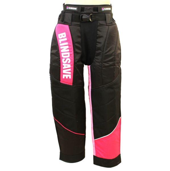 BLINDSAVE Torhüter Hose Damen schwarz/pink