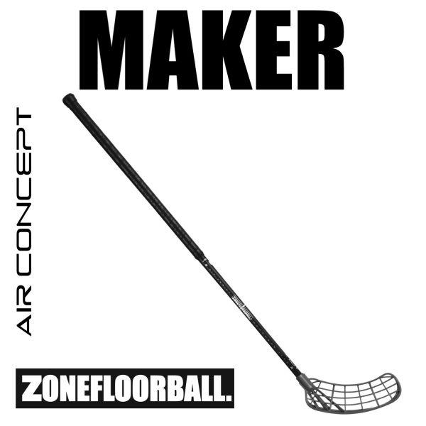 Floorball Schläger Zone MAKER AIR Superlight 26 Player's Choice schwarz/silber