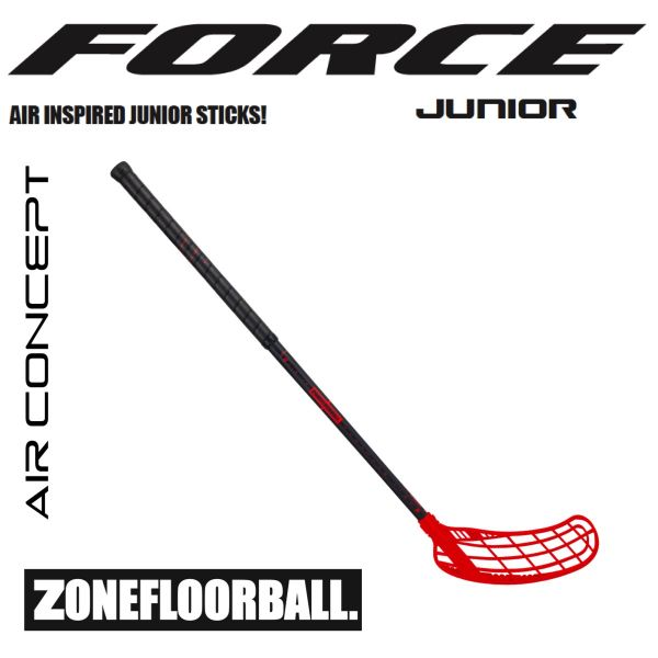 Floorball Kinder Schläger Zone FORCE AIR JR. 35 schwarz/rot
