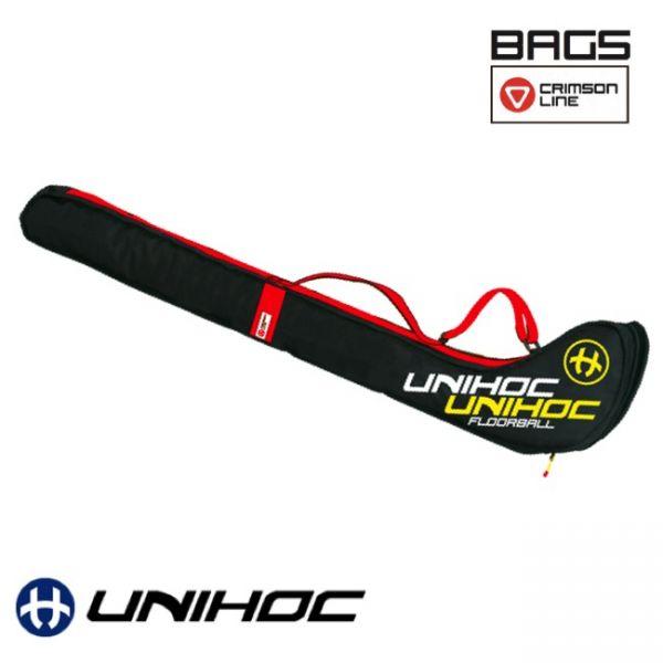 Floorball Tasche - Unihoc Stickbag CRIMSON LINE Kid schwarz