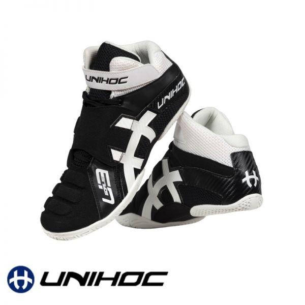 Unihoc Schuh U3 GOALIE schwarz/weiß