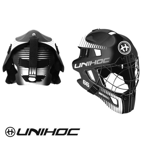 Unihoc INFERNO 66 Maske schwarz