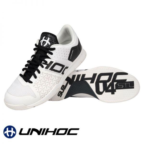 Unihoc Schuh U4 STL LowCut weiß/schwarz