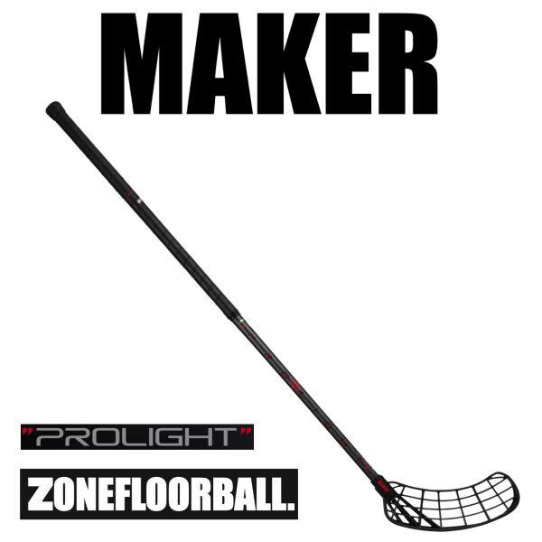 Floorballschläger Zone MAKER Prolight 29 schwarz/carbon