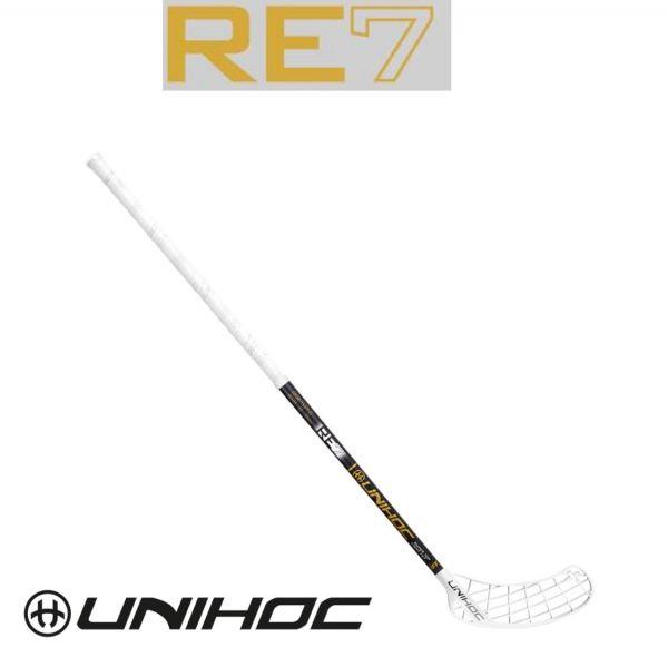 Unihoc PLAYER+ RE7 STL 27 schwarz/gold
