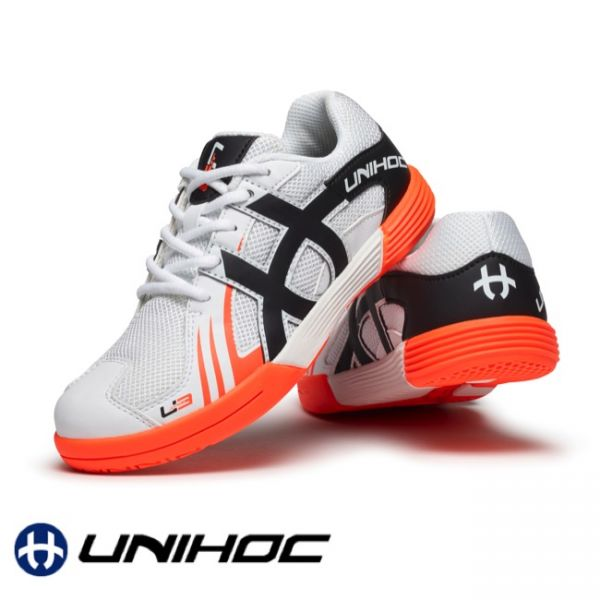 Unihoc Schuh U3 JUNIOR weiß/orange