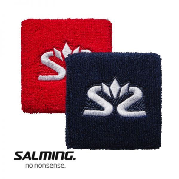 Salming Schweißband SHORT (2er Pack) Rot/Blau