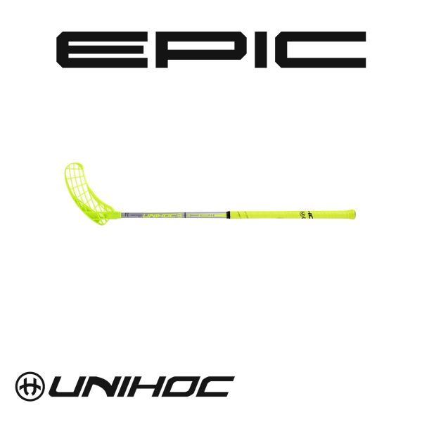 Floorball Stick - Unihoc Epic Composite 32 yellow silver