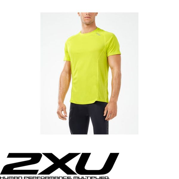 2XU X-VENT Shortsleeve neon gelb