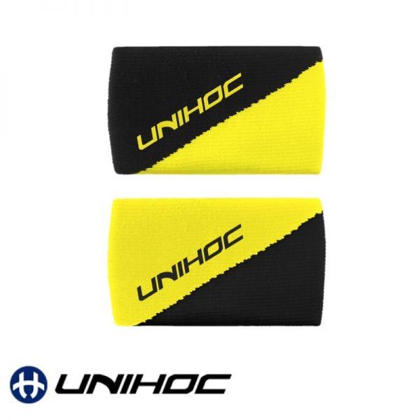 Unihoc Schweißband DIVISION gelb / schwarz