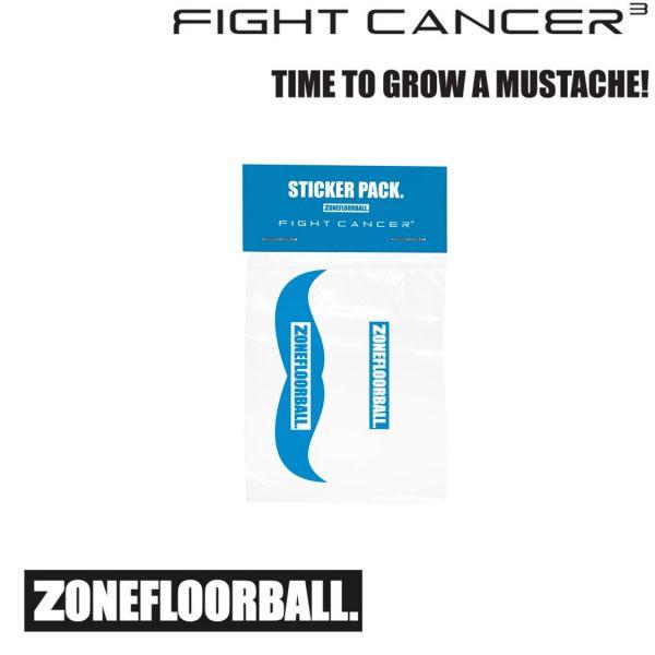 Zone Sticker 4er-Pack FIGHT CANCER blau/weiß