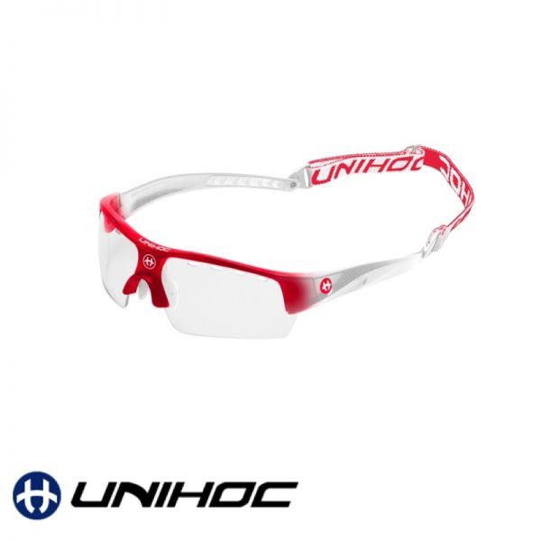 Unihoc Sportbrille VICTORY Kids rot / weiß