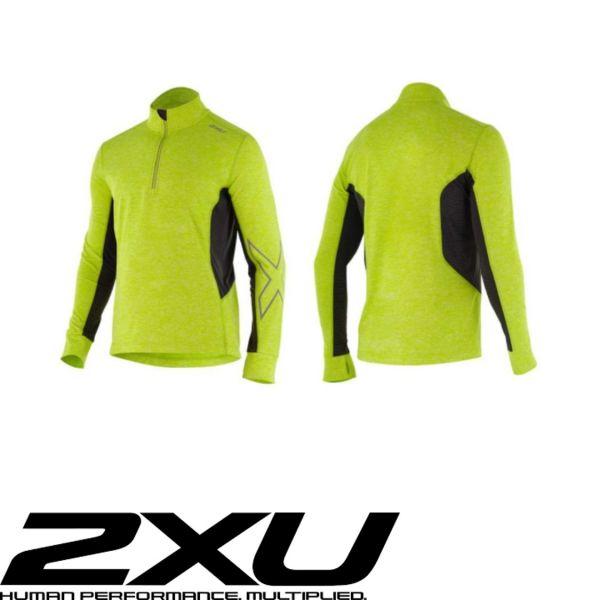 2XU X-VENT Longsleeve neon gelb