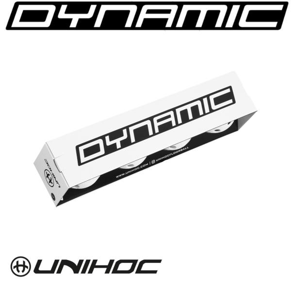 Unihoc Floorball DYNAMIC weiß 4er Pack