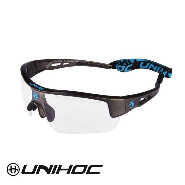 Unihoc Sportbrille VICTORY Senior Schwarz / Blau