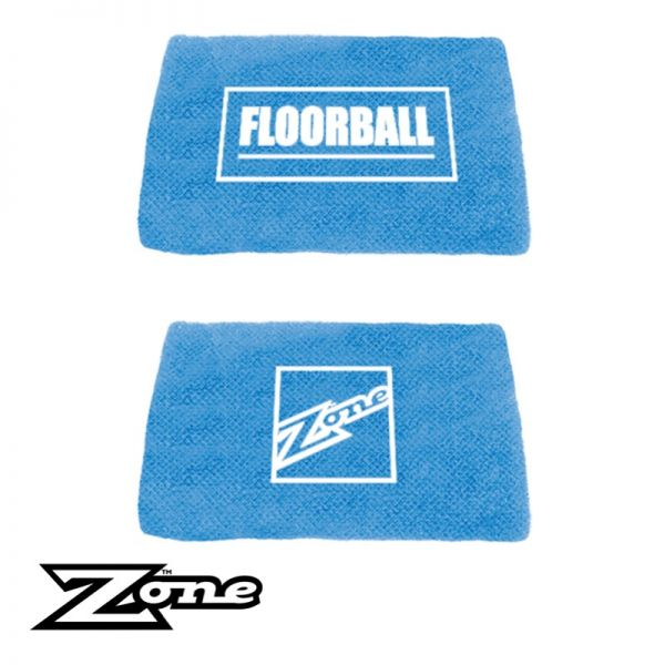 Floorball Zone Schweißband SHORTY eisblau (2er Pack)