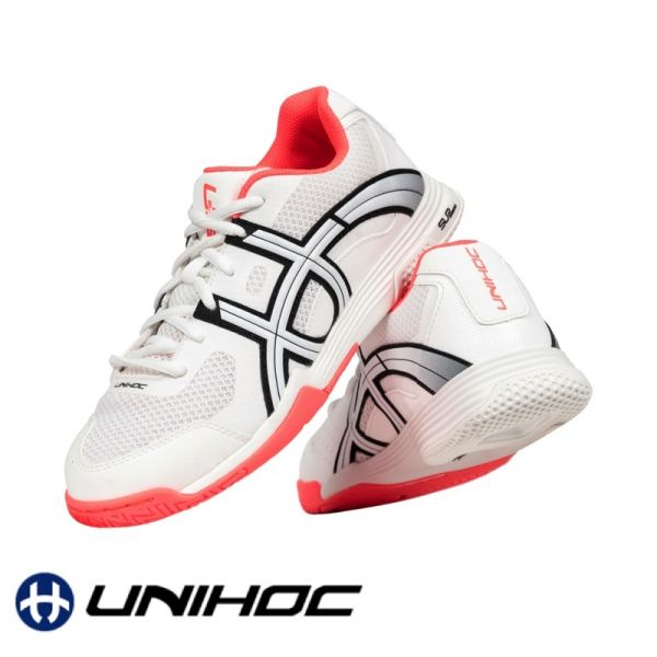 Unihoc Schuh U3 ELITE LADY weiß/coral