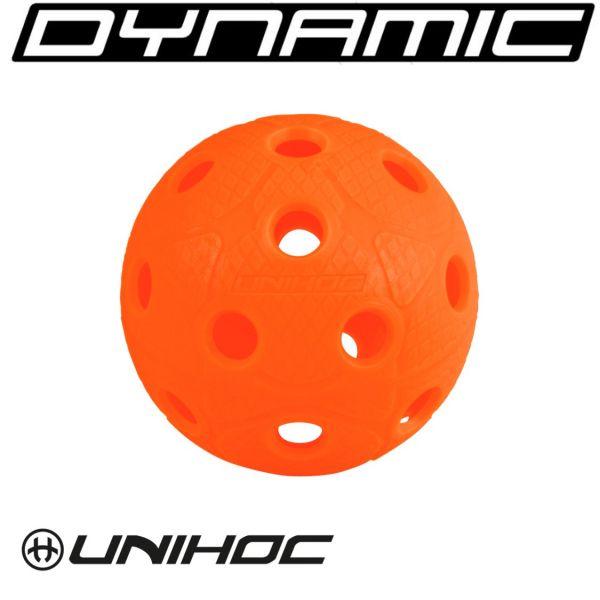WM Spielball Unihoc DYNAMIC hot orange - offizielle WM Farbe