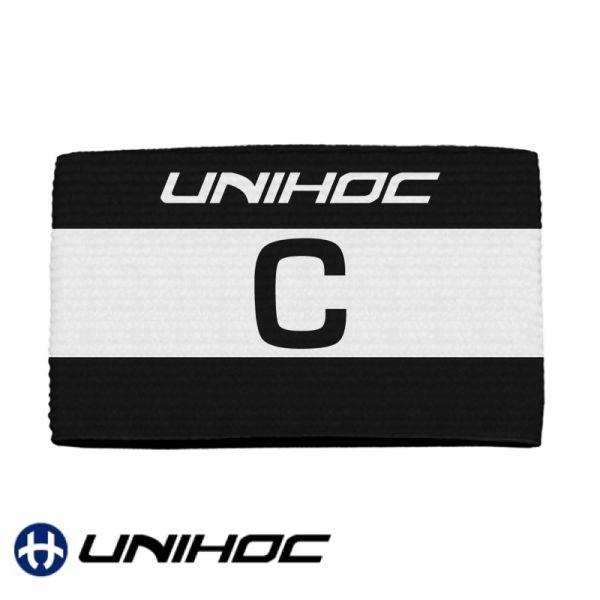 Unihoc Kapitänsbinde SKIPPER schwarz / weiß