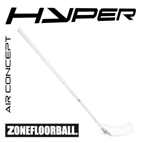 Floorballschläger Zone HYPER AIR ShotCurve 2.0° Player's Choice 27 weiß